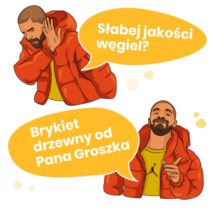 brykiet od Pana Groszka